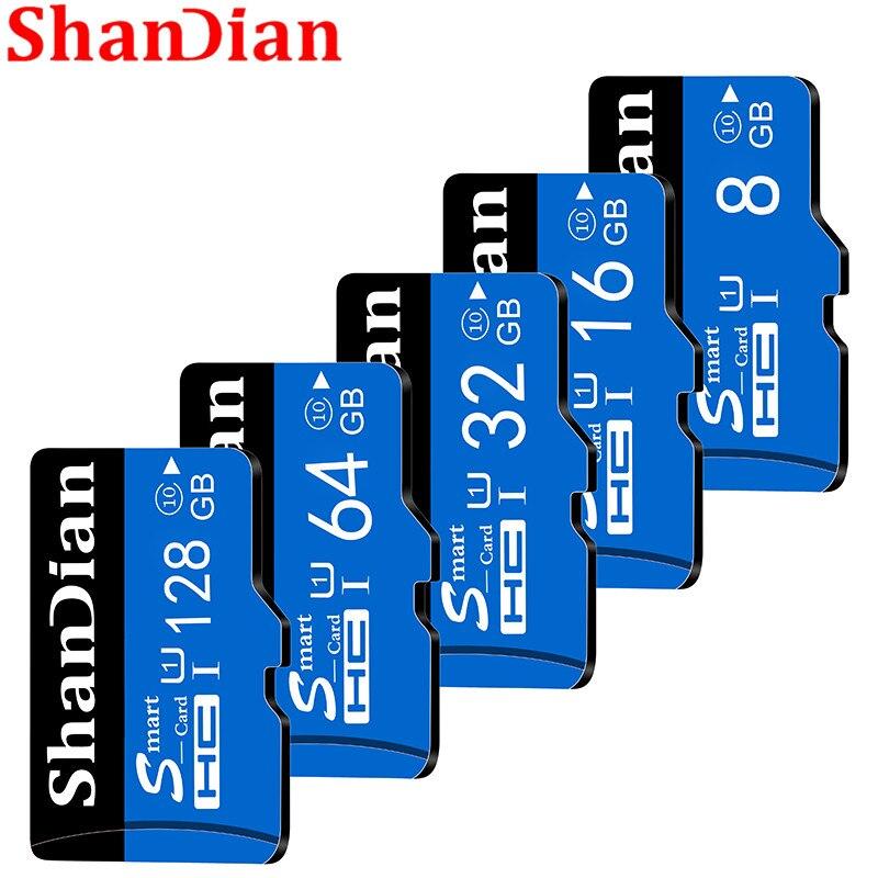 SHANDIAN Memory Card Extreme Pro SDHC/SDXC SD Card 32GB 64GB 128GB 8GB 16GB C10 Card For