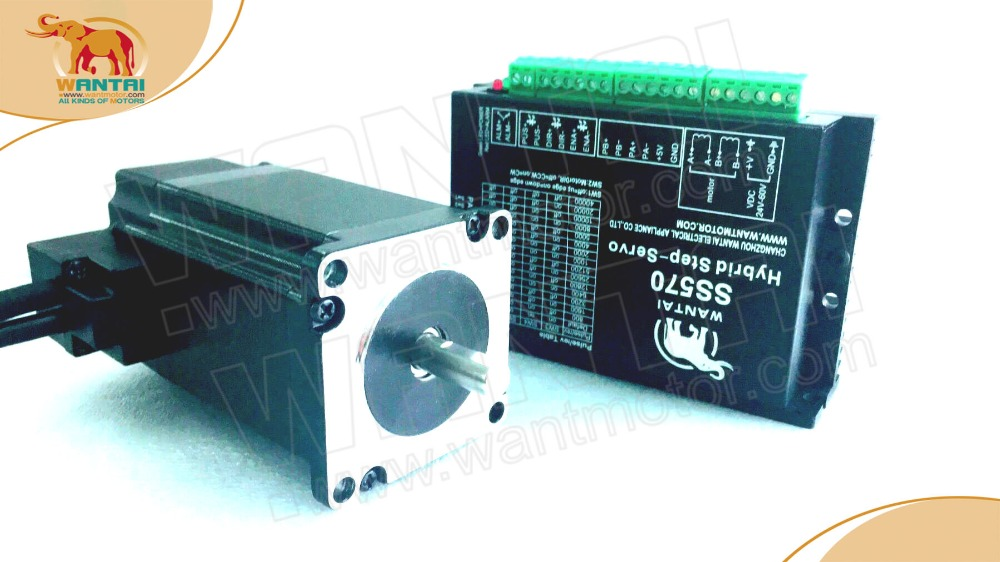 New motor! Wantai 4-Lead Nema23 closed loop stepper motor, 57HBM10-1000 4A 110N-cm(155oz-in) +servo driver CNC Machine wantai closed loop step motor 86hbm80 1000 servo motor 9n m nema 86 hybird closed loop 2 phase stepper motor www wantmotor com