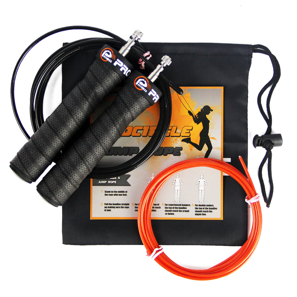 Fitness Jump Rope Professional Training Adjustable Cable High Speed Skipping Ropes Rapid Ball Bearings