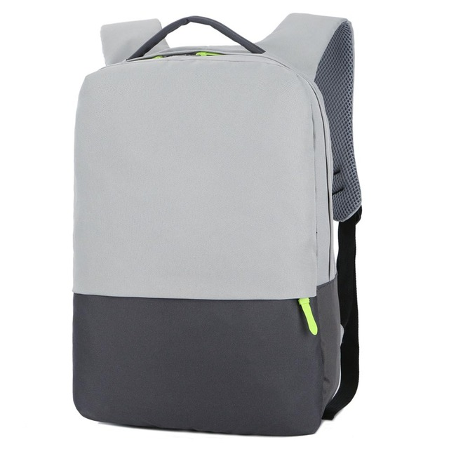 Portable Business Man Laptop Bags Backpacks Shoulder Notebook Bag Case Portable Solid Gray Color Computer Simply Style Bag