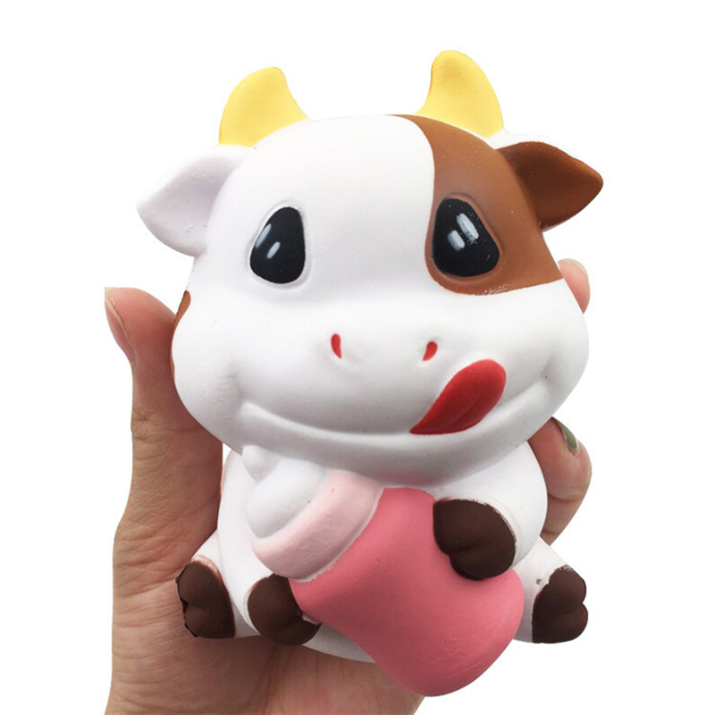 New 4 Colors Milk Box Banana Ball Squishy Slow Rising Jumbo Pig Cotton Soft Squeeze Scented Bread Cake Kid Fun Toy Gift Drop