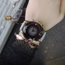 Wristwatches Quartz-Watches Rhinestone Waterproof  Women's Watches Genuine Leather Upscale Large Dial  Free shipping