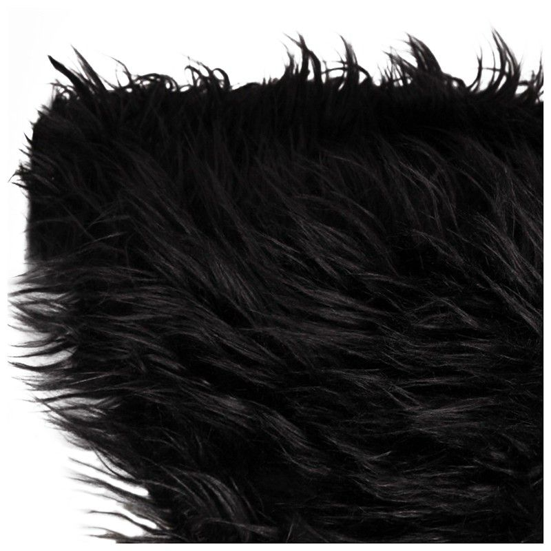 Baby Newborn Faux Fur Photography Photo Props Blanket Basket Stuffer Rug Beanbag Background Backdrop Black