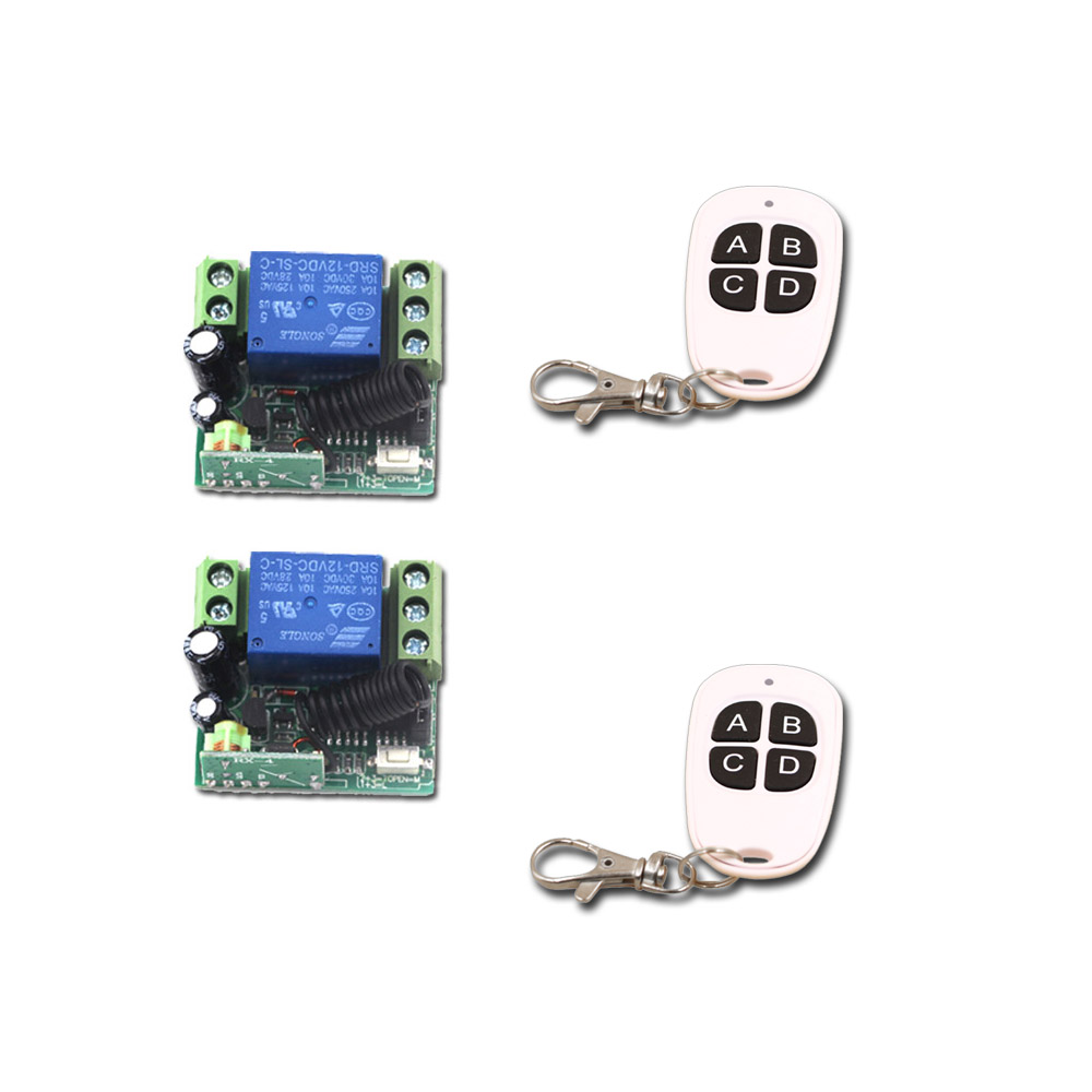 DC 12V Wireless Remote Control Switch Mini 1CH 10A Relay Remote ON/OFF Light LED Switch With Case 315Mhz/433Mhz dc 12v photoresistor module relay light detection sensor light control switch l057 new hot