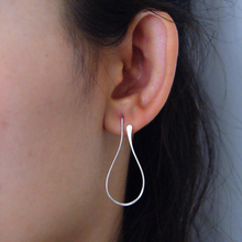 925 Sterling Silver Circle Earrings Handmade Jewelry Gold Wr