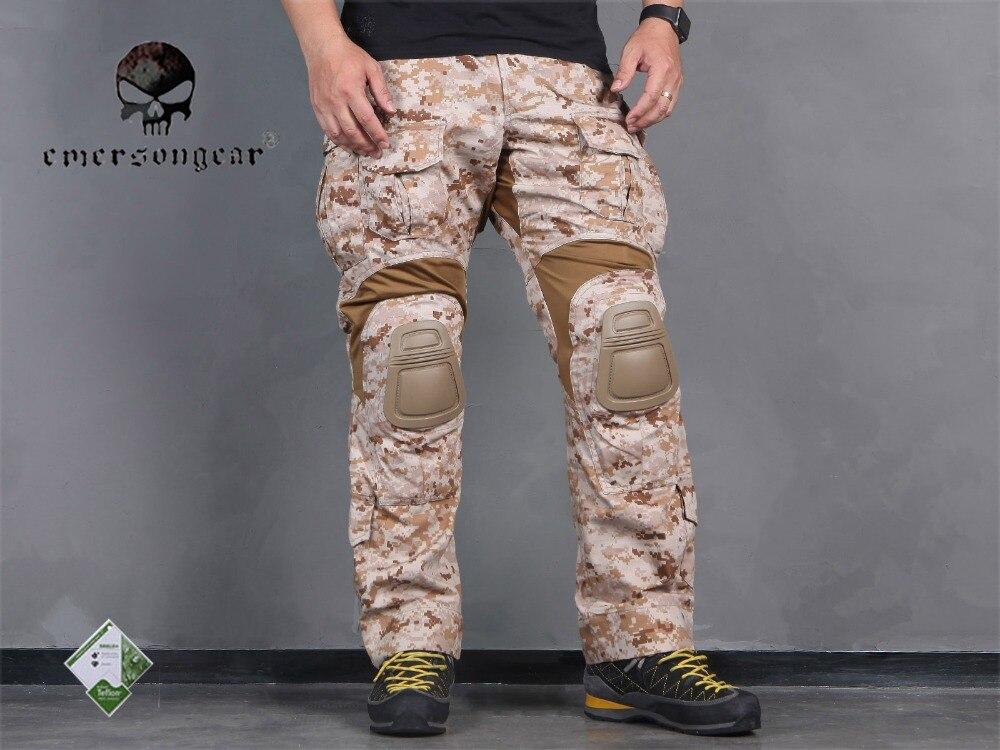 Sportbekleidung Hosen Männer Military Airsoft Bdu Hosen Kampf Emerson Tactical Gen3 Hosen Mit Knie Pad Aor1 Em7026 Hochglanzpoliert