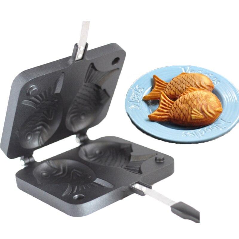 sea bream grill mold Using taiyaki mold No need Oven pot tray of simple sea bream pan gas furnace bream baking pot 14.5*17.5CM