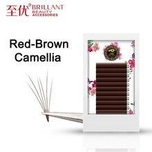 BRILLAN Reddish Red Brown Camellia Hybird Classic Volume Caramel Dark Coffee Bloom Colour Grafting Eyelashes Ciliary Eyelid цены