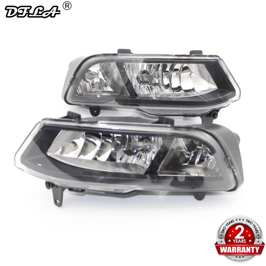 Car Light For VW Polo 6C 2014 2015 2016 2017 Car Styling Front Halogen Fog Light Fog Lamp Assembly Two Hole Bulbs