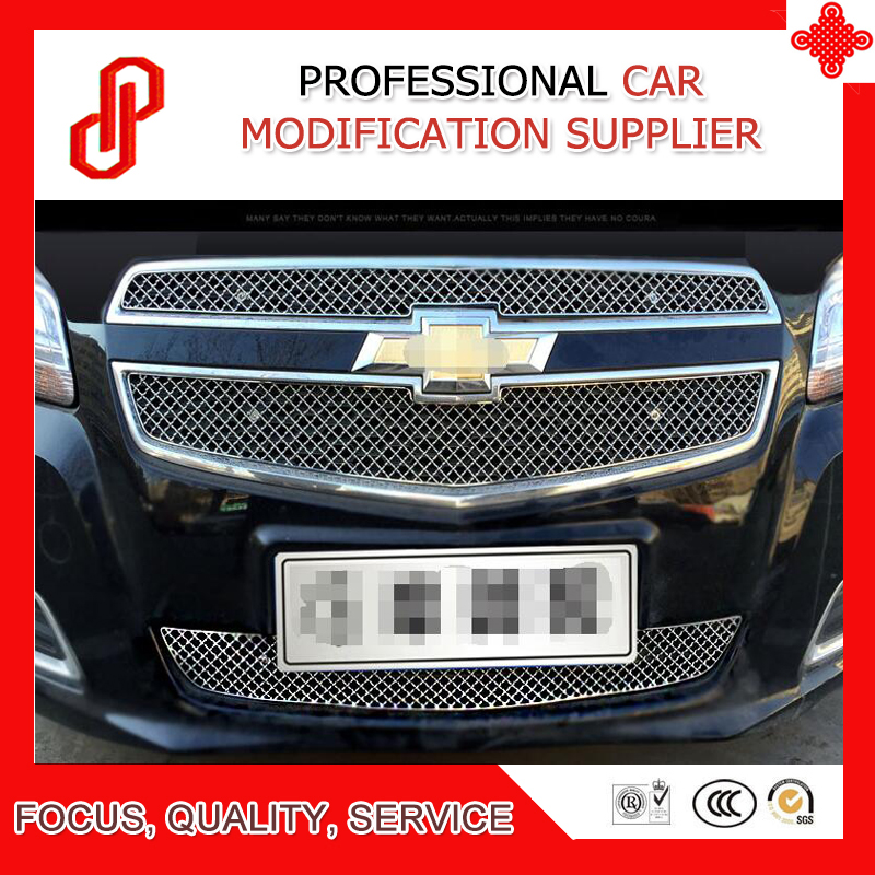 High quality Stainless steel modification car front grille racing grills grill cover for Malibu 2012 2013 14 15 2016 2017 image