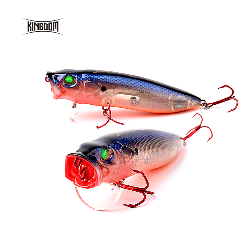 Kingdom new arrival topwater fishing lure popper switchable tongue plate 70mm 9.5g /90mm 16g/ 110mm 33g six colors model 5367 halco roosta popper 80 r18 80mm 16g 0m f