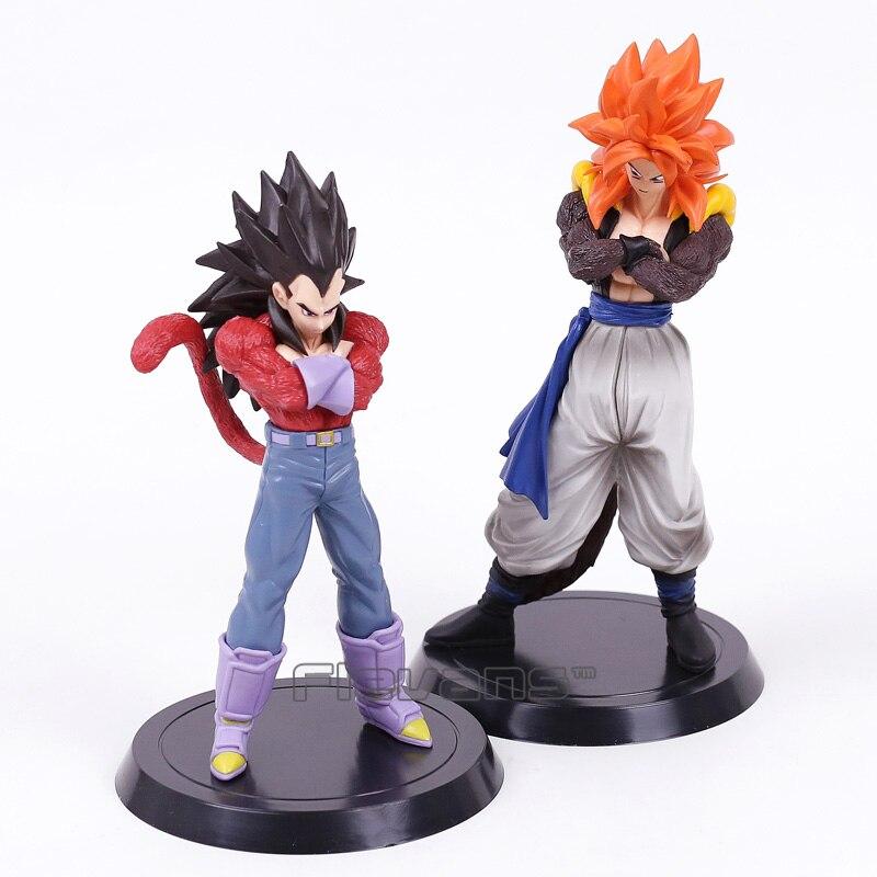 Dragon Ball Z Figurines Son Goku Gogeta & VegetaSuper Saiyan 4 Collection Toys 2pcs/set