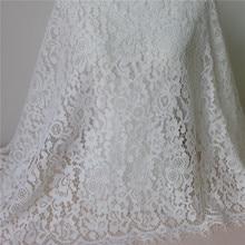 Великолепная белая кружевная ткань с вышивкой ресниц, 3 м/лот, ширина 65 см