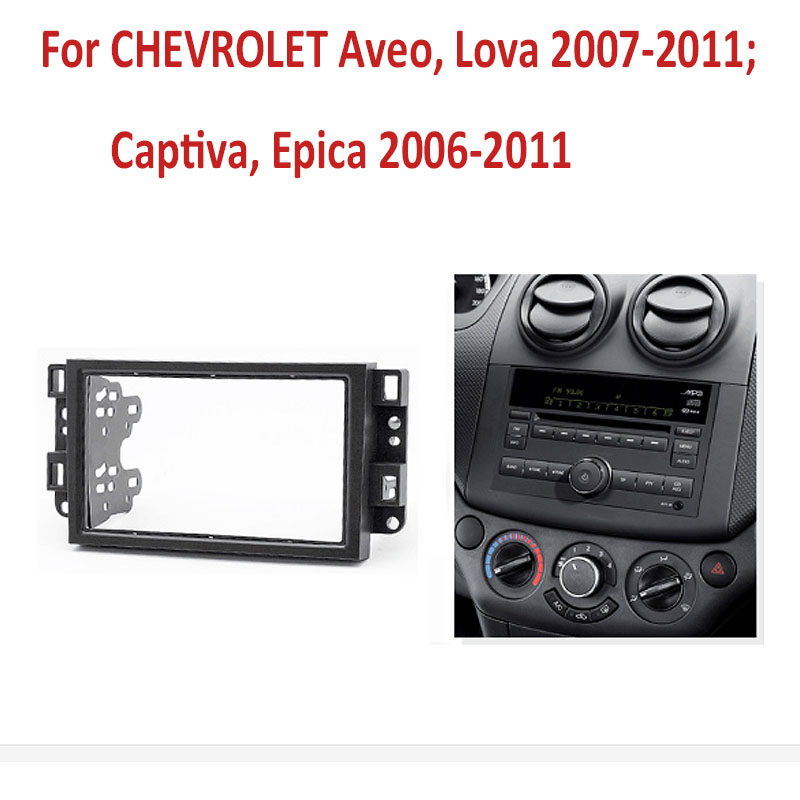 2 Din auto radio Fascia Für Chevrolet Aveo Lova Captiva Gentra Radio Stereo-Panel Dash Montage Installation Trim Kit Rahmen lünette