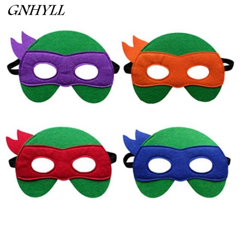 GNHYLL Ninja Turtles Mask Captain America Teenage Mutant Ninja Turtles The Avengers Kid Birthday Gift Cosplay Party Masks