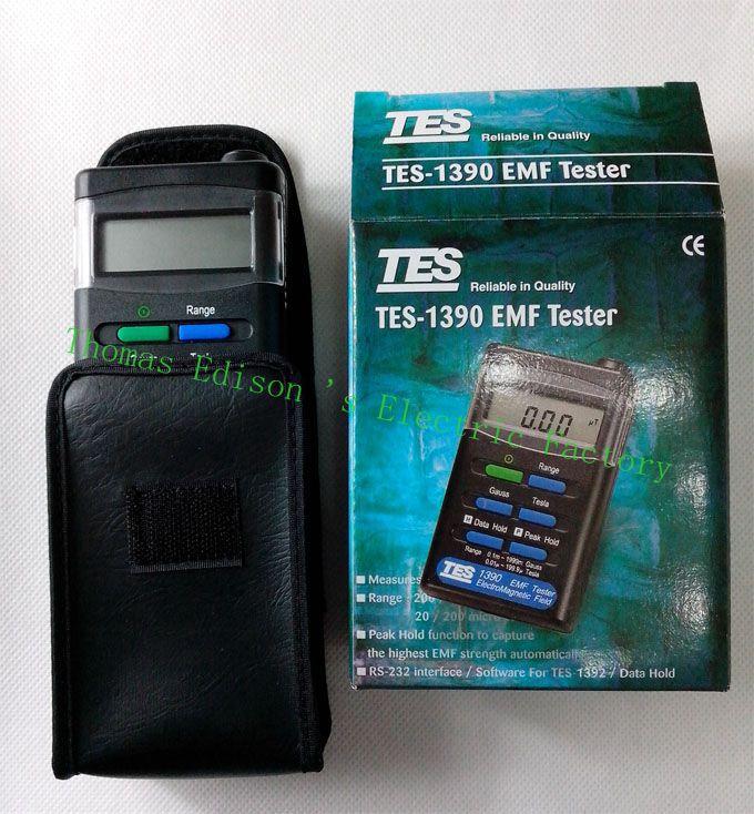 TES EMF Tester Gauss Electromagnetic Field Meter TES-1390 Electromagnetic wave tester mary tes w15102142288
