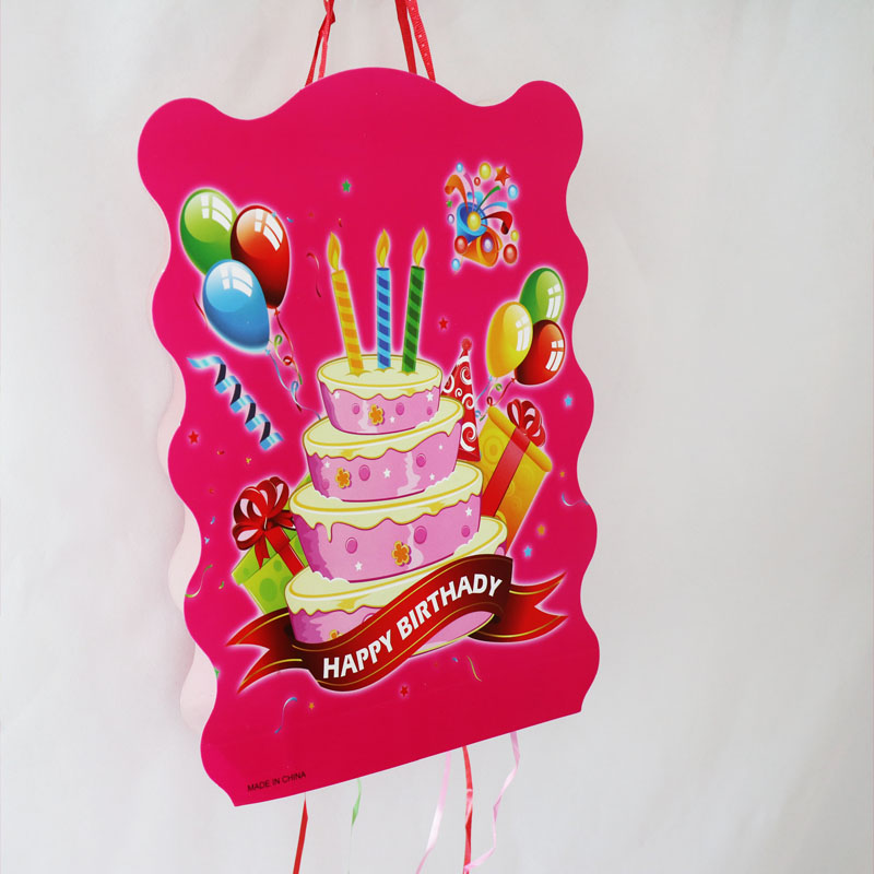 Remarkable 1Set Lot Folding Pinata Baby Shower Party Game Decoration Happy Personalised Birthday Cards Beptaeletsinfo