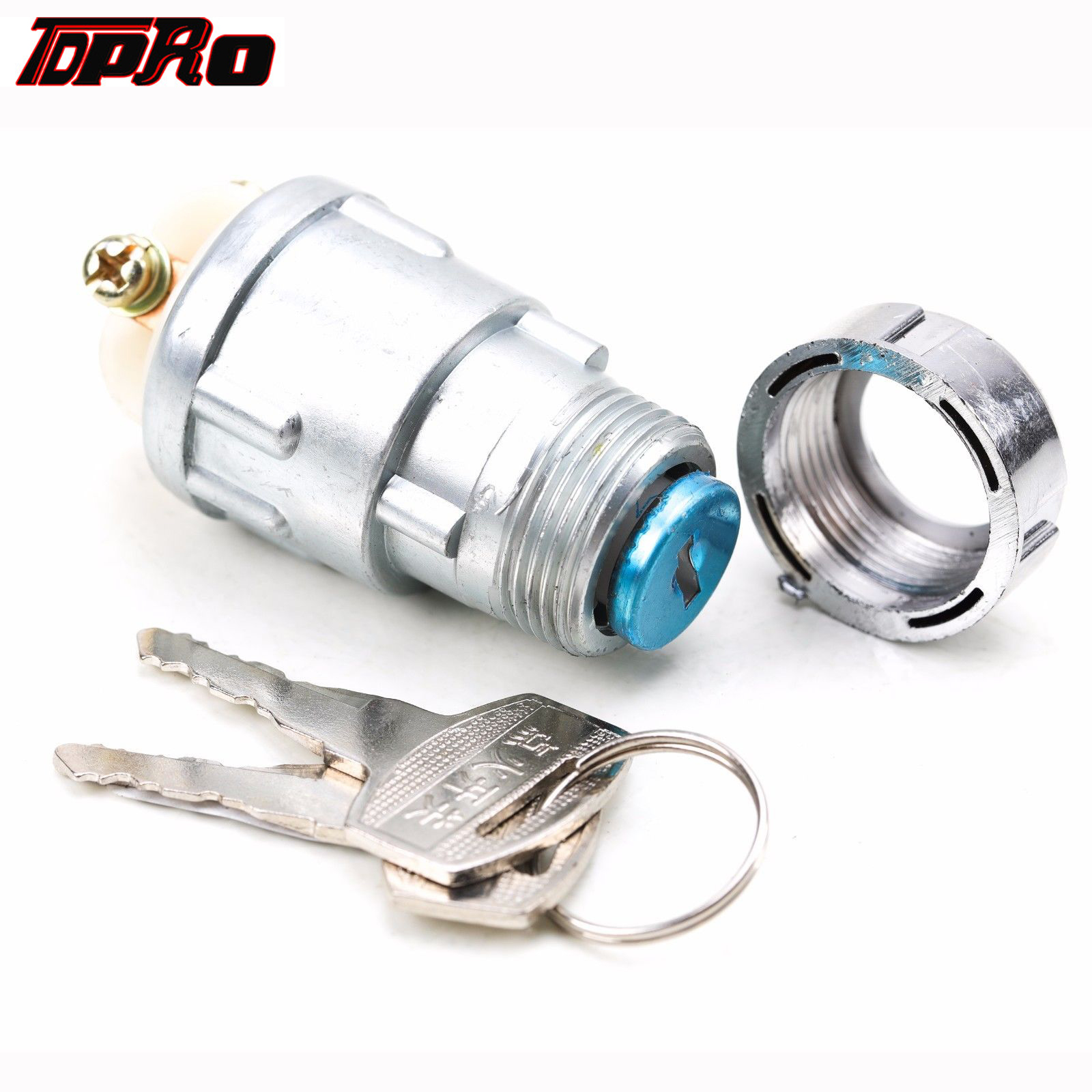 TDPRO Motorcycle 3 Position Ignition Starter Key Switch 2 Keys For Honda Yamaha 200CC 250cc Quad Dirt Bike ATV Buggy GoKart Boat