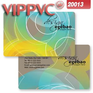 a20013 card template Pvc white plastic  business card - 85.5X54X0.38mm one-faced printing