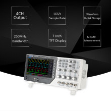 Hantek DSO4254B Bench Tipe Digital Storage Oscilloscope 4CH USB Oscilloscopes Analyzer Bandwidth 8-Bit 250MHz 1GS/ S Sample Rate(China)