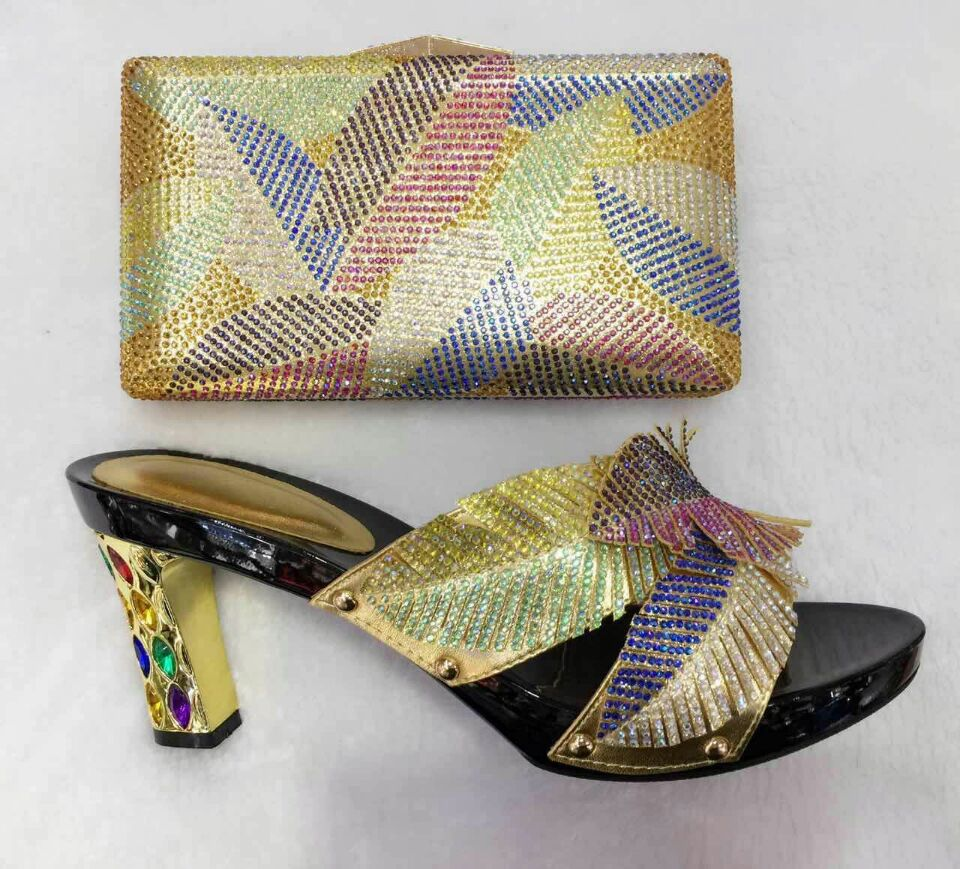 (TT09)African Shoe and Bag Set High Quality Women Shoe and Bag To Match for Parties Italy Design Shoe and Bag Set for Women