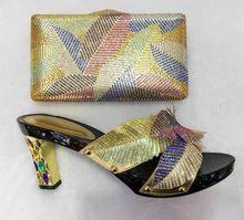 (TT09) African Schuh und Tasche Set Hohe Qualität Frauen Schuh und Tasche für Parteien Italien Design Schuh und Tasche Set für frauen