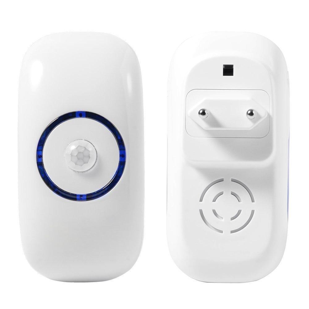 Espow AC 80 260V Human Body PIR Motion Sensor Light 18 LEDs EU Night Light With