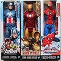 """Мстители 2 """"Капитан Америка Росомаха Человек-Паук Тор Marvel Железный Человек 30 см Фигурки ПВХ Супергерой Флэш Игрушка в подарок для дети"""
