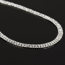YFJEWE Hot Sale Women Wedding Bridal Silver Plated Necklace Earrings Jewelry Woman Crystal Rhinestone Beads Jewelry Sets N174