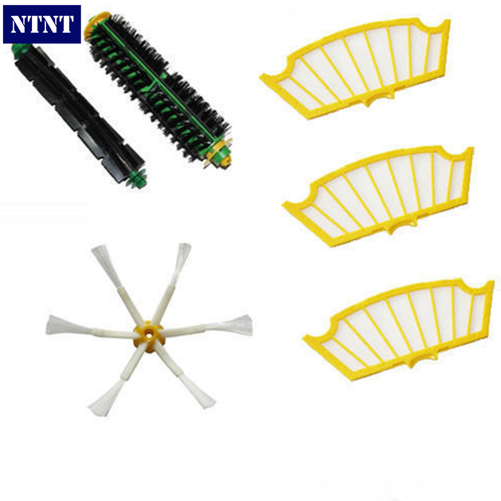 NTNT Free Shipping Side Brush Filters 6 Armed Mini Kit for iRobot Roomba 500 Series ntnt free shipping side brush filters 6 armed mini kit for irobot roomba 500 series