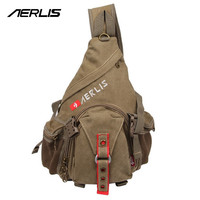 Fashion Men Canvas One Shoulder Backpack Qaulity Sport Travel Crossbody Messenger Male Triangle Chest Outdoor Bag