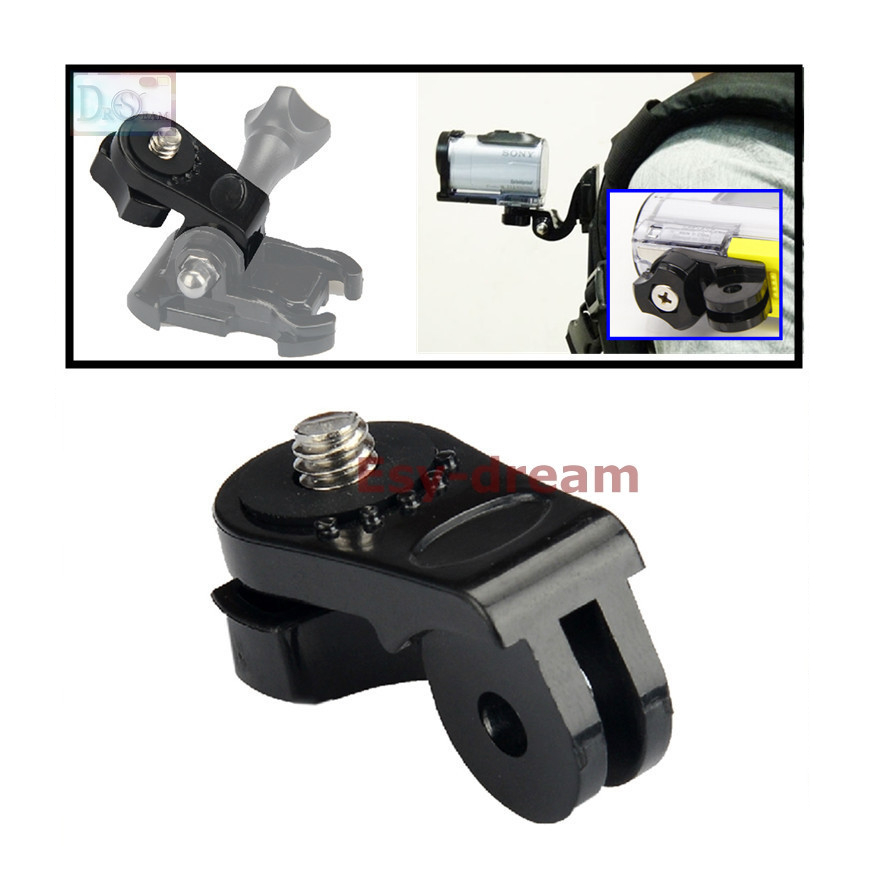 1/4 Screw Tripod Mount Adapter Converter <font><b>Accessories</b></font> For <font><b>Sony</b></font> Action Cam to Gopro Camera AS20 <font><b>AS30V</b></font> AS100V AS200V HDR AZ1 Xiaomi image