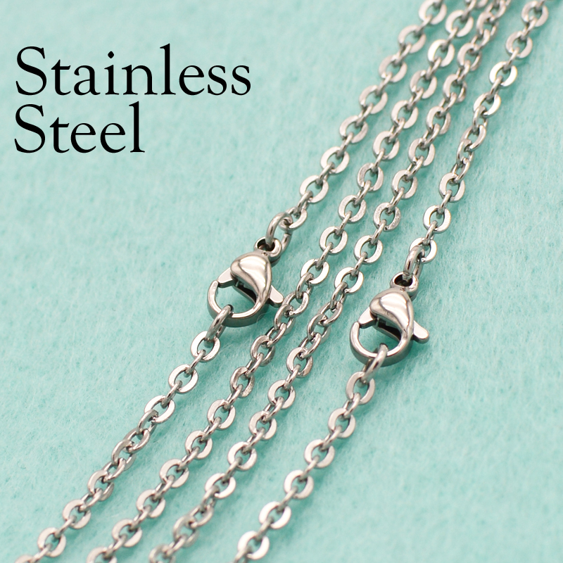 Wholesale In Bulk Lots Silver//Gold Stainless Steel Rolo Oval Link Chain Necklace