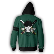 Roronoa Zoro Green Logo Hoodie