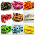 10 meter diy material PU Leather Chain 4MM bracelet necklace cord Stitched Round Soft Synthetic  String Jewelry Cord