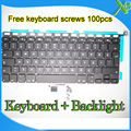 "Brand New For MacBook Pro 13.3"" A1278 TR Turkish Turkey keyboard+Backlight Backlit+100pcs keyboard screws 2008-2012 Years"