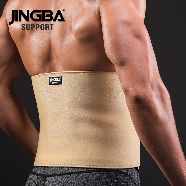 JINGBA SUPPORT 1PCS Professional Adjustable waist trimmer sweat belt Sports Pressurized Back Waist Support Fitness Bodybuilding 2