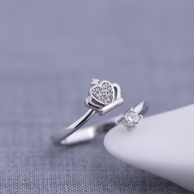 Miestilo Claddagh Crown Cross 925 Sterling Silver Promise Ring