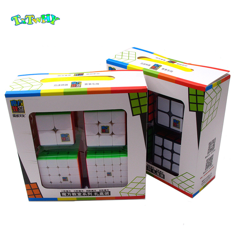 MoYu Mofangjiaoshi 2x2 3x3 4x4 5x5 Speed Cube Gift Box Packing Professional Puzzle Educational Toys Children Magic Cube Pack