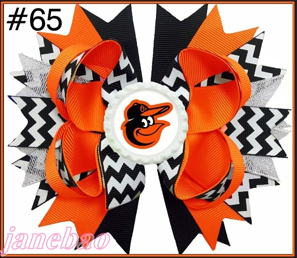 free shipping 30pcs 4 5 Baseball Hair Bow Boutique Style Rangers hair bows MLB baseball bows