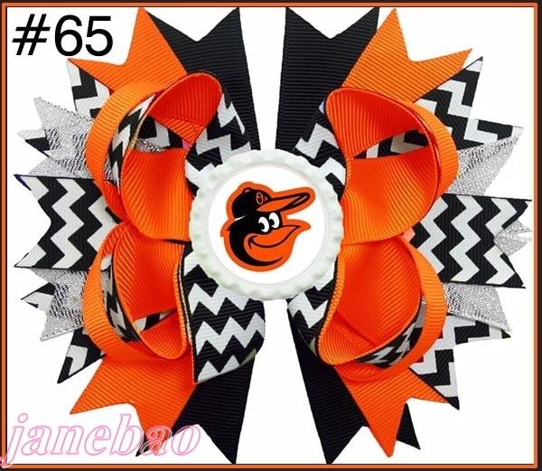 free shipping 30pcs 4 5 Baseball Hair Bow Boutique Style Rangers hair bows MLB baseball bows