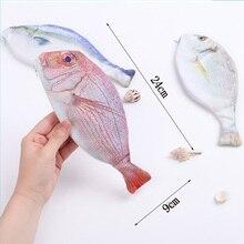 Creative Imitation Sea Fish Pencil Case Cute Fish Shape Pencilcase Pen Bag for Kids Novelty Gift School Supply Korea Stationery