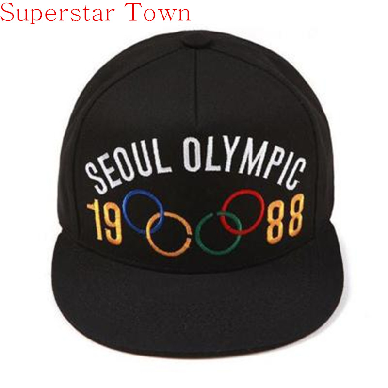 2016 Brand Latest Kpop Bigbang GD Cap MADE TOUR Seoul Olympic 1988 Baseball Hat Adjustable