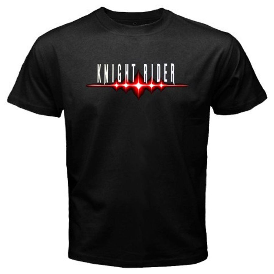New KNIGHT RIDER Classic Movie TV Show Logo Mens Black T-Shirt Size S to 3XL Mens T Shirts Summer Hipster