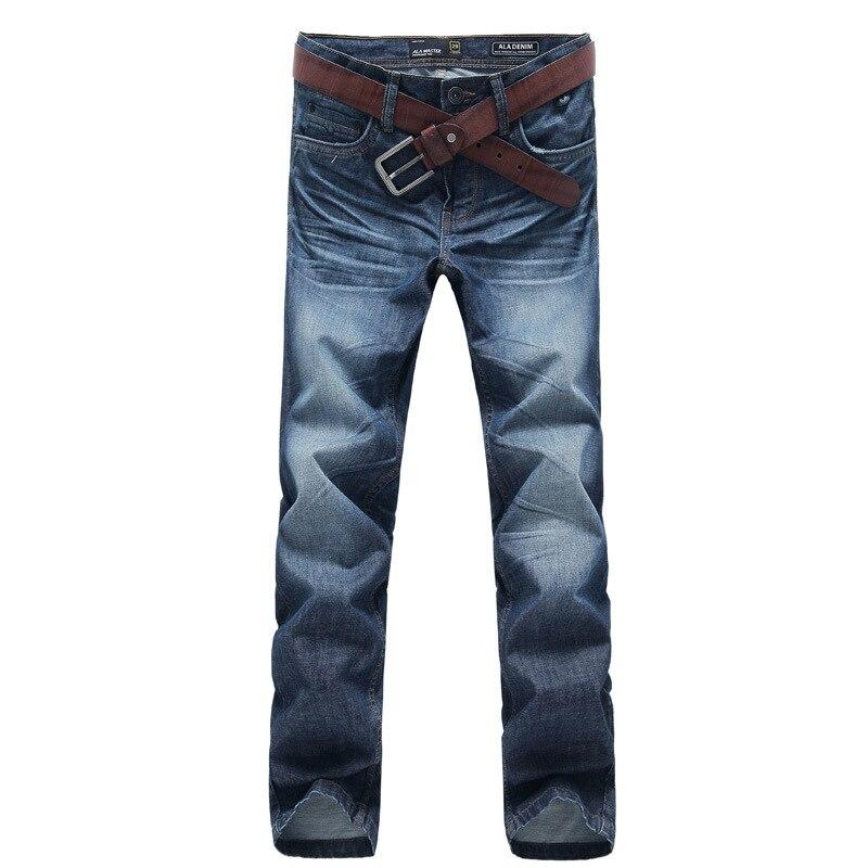 2018 Autum Winter Mens 100% Cotton Denim Jeans Pants Vintage 3D Crinkle Stonewashed Slim Straight Jeans Casual Pants 138025