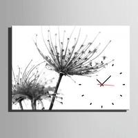 Free Shipping E HOME Dandelion Clock in Canvas 1pcs wall clock 18011203