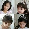 2016 New Cute Heart Princess Crown Tiara Rhinestone Corona Diadem Hairwear Hair Jewelry Lovely Wedding Girls Bridesmaid Headband