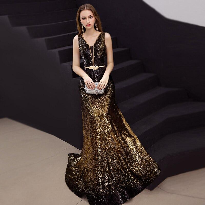 Купить вечернее платье с открытой спиной и v образным вырезом
