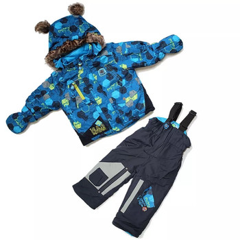 Sale !! -30 Snowsuits Kids Winter Sets Baby Ski Suits 3 pieces Warmly Boys Winter Snow Jackets Infant Children Outwear 12m