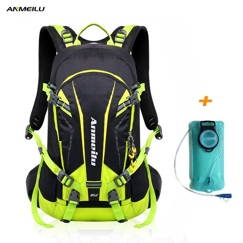 ANMEILU 20L Waterproof Climbing Hiking Backpack 2L Water Bladder Bag Cycling Camping Backpack Rain Cover Outdoor